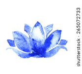 lotus flower watercolor art... | Shutterstock .eps vector #265072733