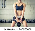 Woman Making Power Training In...