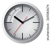 wall mounted digital clock. | Shutterstock .eps vector #265083674
