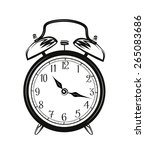 vector sketch of a alarm clock... | Shutterstock .eps vector #265083686