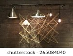 modern light fixtures hanging... | Shutterstock . vector #265084040