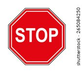 priority of traffic sign. stop. | Shutterstock .eps vector #265084250