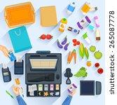 easy to edit vector... | Shutterstock .eps vector #265087778