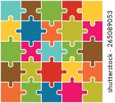 jigsaw puzzle pieces background ... | Shutterstock .eps vector #265089053
