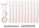 percentage icons full set...   Shutterstock .eps vector #265090598
