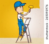 professional painter. hand... | Shutterstock .eps vector #265093976