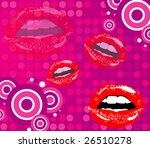 vector kiss and background   Shutterstock .eps vector #26510278