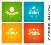 summer holidays design elements ... | Shutterstock .eps vector #265104428