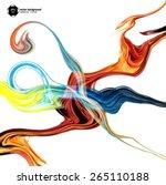 oil paint vector background for ... | Shutterstock .eps vector #265110188