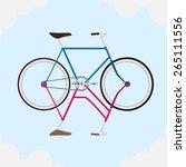 fixed bike in the sky | Shutterstock .eps vector #265111556
