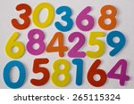 colorful numbers | Shutterstock . vector #265115324