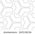 seamless stylish dotted... | Shutterstock .eps vector #265118126