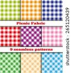 set of nine samples checkered... | Shutterstock .eps vector #265120439
