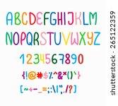 vector font color | Shutterstock .eps vector #265122359