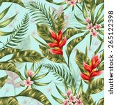 seamless pattern with tropical... | Shutterstock .eps vector #265122398