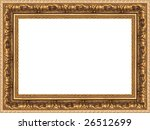 a picture frame on a white | Shutterstock . vector #26512699