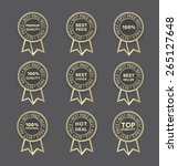 sellers gold badges | Shutterstock .eps vector #265127648