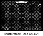 big set of decorative round... | Shutterstock .eps vector #265128164