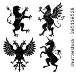 heraldic animals set