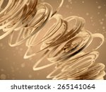 abstract gold background | Shutterstock . vector #265141064