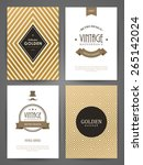 set of brochures in vintage... | Shutterstock .eps vector #265142024