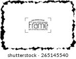 grunge frame   abstract texture.... | Shutterstock .eps vector #265145540