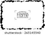 grunge frame   abstract texture.... | Shutterstock .eps vector #265145540