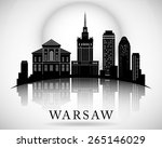 Modern Warsaw City Skyline...