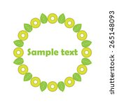 vector fruit frames. cute...   Shutterstock .eps vector #265148093