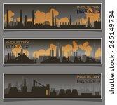 vector horizontal banner  plant ... | Shutterstock .eps vector #265149734