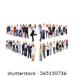 business picture team over... | Shutterstock . vector #265150736