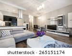 kitchen and living area in... | Shutterstock . vector #265151174