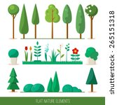 set of nature elements  trees ... | Shutterstock .eps vector #265151318