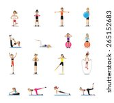 fitness people workouts set  ... | Shutterstock .eps vector #265152683