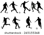 soccer players silhouettes | Shutterstock .eps vector #265155368