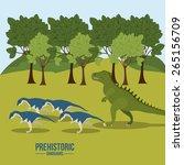 prehistoric design over... | Shutterstock .eps vector #265156709