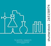 the concept of chemical science ... | Shutterstock .eps vector #265158974