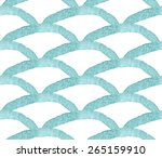 turquoise watercolor wave... | Shutterstock .eps vector #265159910