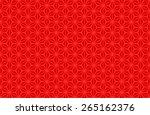 seamless oriental pattern of... | Shutterstock .eps vector #265162376