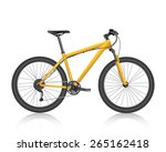 realistic mountain bike gold... | Shutterstock .eps vector #265162418