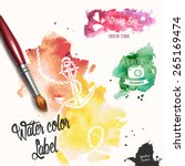 silhouettes in colorful ink... | Shutterstock .eps vector #265169474