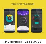 mobile application interface... | Shutterstock .eps vector #265169783