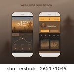 mobile application interface... | Shutterstock .eps vector #265171049