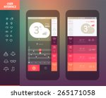 mobile application interface... | Shutterstock .eps vector #265171058