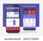 mobile application interface... | Shutterstock .eps vector #265172069