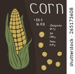 cartoon sweet corn with... | Shutterstock .eps vector #265173608