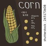 cartoon sweet corn with... | Shutterstock .eps vector #265173608