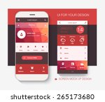 mobile application interface... | Shutterstock .eps vector #265173680