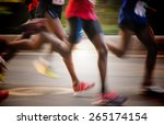 international marathon runner | Shutterstock . vector #265174154