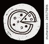 doodle pizza | Shutterstock . vector #265175846